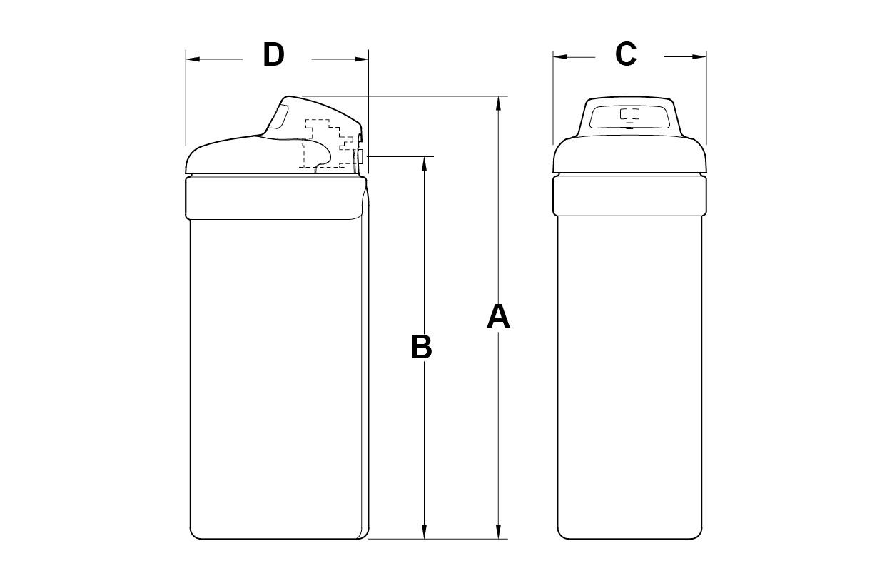 Dimensioni addolcitore NSC 31